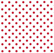 Red Polka Dots Heavy Embossed Gift Wrapping Paper -60cm x 9.1m Roll