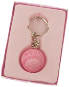 Firefly Imports Baby Shower Party Favour It's a Boy/Girl Baseball Key Chain, Light Pink
