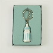 Firefly Imports Baby Shower Party Favour Baby Bottle Key Chain, Light Blue
