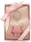 Firefly Imports Baby Shower Party Favour Keepsake Baby Clothes Key Chain, Light Pink