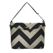 Foxy Vida Nappy Bag, Black Denton