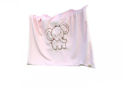 Whimsy Embroidered Baby Blanket, Elephant