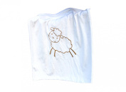 Whimsy Embroidered Baby Blanket, Lamb