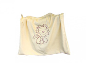 Whimsy Embroidered Baby Blanket, Lion