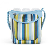 Built Bottle Buddy Three Bottle Tote, In Baby Blue Stripe