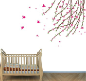 Fabric Tree Branch Decals, Pink Girls Room, Girls Decal