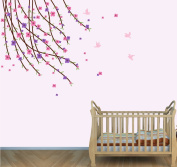 Flower Wall Art, Flower Tree Decor, Kids Room Décor