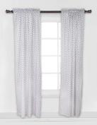 Bacati - Black Pin Dots Curtain Panel