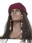 Deluxe Dark Brown Pirate Wig Jack Sparrow Captain Hook Buccaneer Costume Wig