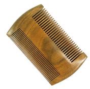 Meta-C Natural Green Sandal Wood Handmade Pocket Beard/Hair Comb