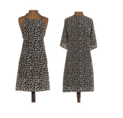 1907 Leopard Apron & Hairstyling Cape Set #NTA023