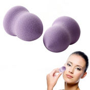 AGM® 2pcs Flawless Smooth Pro Beauty Makeup Blender Foundation Powder Face Puff Gourd Shape Sponges