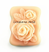 Longzang Flower Mould Craft Art Silicone Soap Mould Craft Moulds DIY