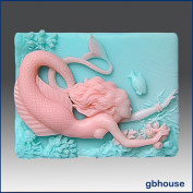 Mermaid Herbena - 2d Silicone Soap/polymer/clay/cold Porcelain Mould
