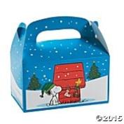 Peanuts Snoopy & Woodstock Treat Boxes Christmas