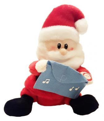Russ Berrie Sing-A-Lings Plush Singing Gift Card Holder (Santa)