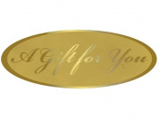 A Gift for You Foil Gold on Gold Seals 6.4cm x 2.4cm 20 Labels