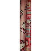 Hello Kitty Christmas Gift Wrapping Paper Two Rolls