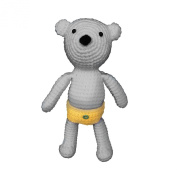 iHanco Cute Teddy Knitting DIY Kit Grey