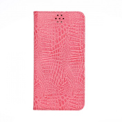 Note 5 Case,Samsung Galaxy Note 5 Wallet Case,SAVYOU Vintage Crocodile Pattern Wallet Flip Cover With Card Slots Stand For Samsung Galaxy Note 5 -Pink