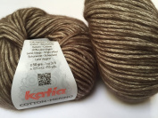 Fil Katia Cotton Merino Yarn #105 Chocolate 50 g ball