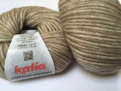 Fil Katia Cotton Merino Yarn #104 Coffee 50 g ball