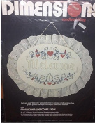 Americana Welcome Sign Dimensions Candlewicking Embroidery Kit 4100
