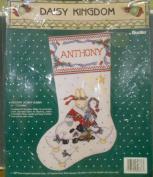 """Daisy Kingdom By Bucilla """"Holiday Honey Bunny"""" 41cm Christmas Stocking Kit 1991"""