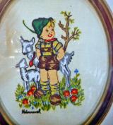 """Paragon """"Farm Boy"""" Hummel Stitchery Kit Vintage Needlework 0655"""