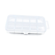 2 PCS Clear Beads Tackle Box Arts Crafts Tackle Storage Plastic Boxes Organisers Containers Case XX009