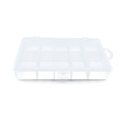 10 PCS Clear Beads Tackle Box Arts Crafts Tackle Storage Plastic Boxes Organisers Containers Case XX020