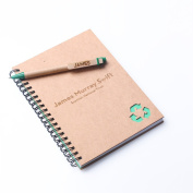 Bespoke Pen and Notebook with Recycled Paper - Personalised Gift with Free Custom Engraving - Best Gift for Him or Her, Writers, Colleagues, Teachers, Students, Environmentalists