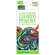 . Aged Up Dual Ended Coloured Pencils for Adult Colouring Books - 24 Rich, Vibrant Colours