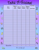 Bundle Boards It's A Boy Baby Shower Guessing Game and Keepsake, Medium