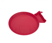 JJ Rabbit Piglet Dipplate, Wet Coral, Red