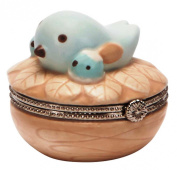 C.R. Gibson Nest Ceramic Trinket Keepsake Box
