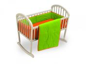 Baby Doll Solid Reversible Cradle Bedding Set, Orange/Apple