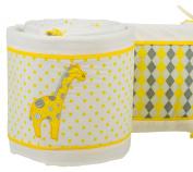 Pam Grace Creations Crib Bumper, Argyle Giraffe