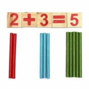 Kyz Kuv Baby Child Counting Stick Wooden Calculation Math Educational Toy