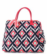 NGIL Coral Ikat Print Quilted Shopping Tote