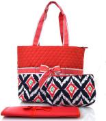 NGIL Coral Ikat Print Quilted Nappy Bag