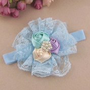 Itaar Baby Girl Flower Headband Lace Lovely Infant Hair Baby Accessories Blue