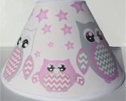 Pink Owl Lamp Shade / Children's Pink Owl Nursery Room Decor
