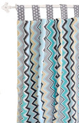 New Arrivals Curtain Panels, Piper in Grey, 2 Count