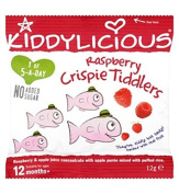 Kiddylicious Raspberry Crispie Tiddlers 12 Months+ 12G - Pack of 2