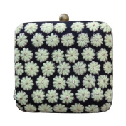The Purple Sack Clutch Purse Indian Bridal Bag Floral Embroidered Box Clutches