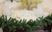 White Iridescent Artificial Powder Glimmer Snow Christmas Blanket - Covers 1.1sqm