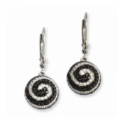 Sterling Silver & CZ Brilliant Embers Lever Back Ball Earrings