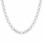Silverly Women's .925 Sterling Silver Polished Belcher Rolo 6 mm Chain Toggle Bar Necklace, 46 cm