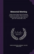 Memorial Meeting